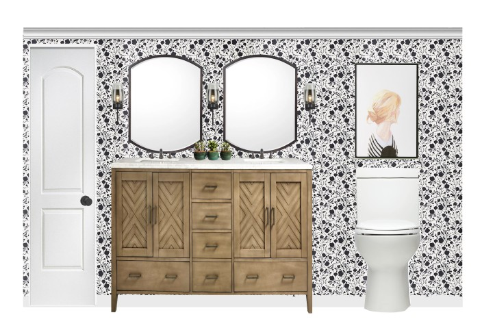 The Star – Patterned Wallpaper